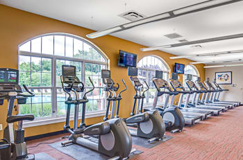 Fitness center at Pleasant View Gardens