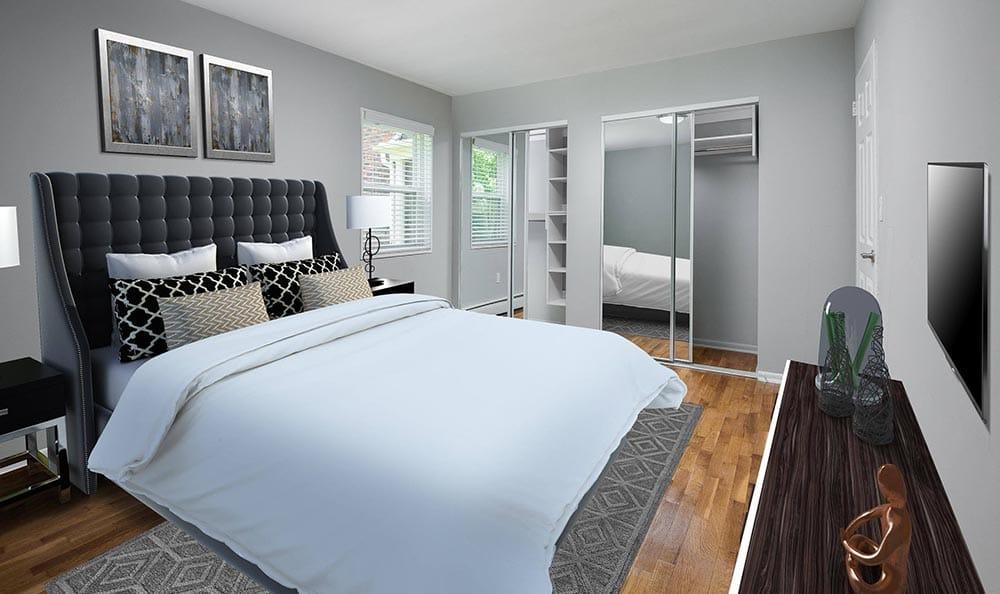Master bedroom at apartments in Wayne, NJ