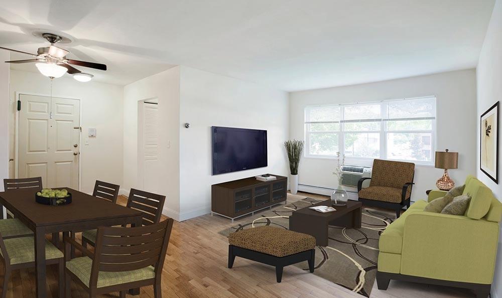 Living room at Wayne Village in Wayne