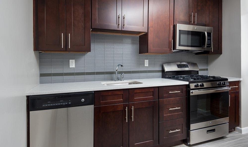 Kitchen at apartments in Wayne, NJ