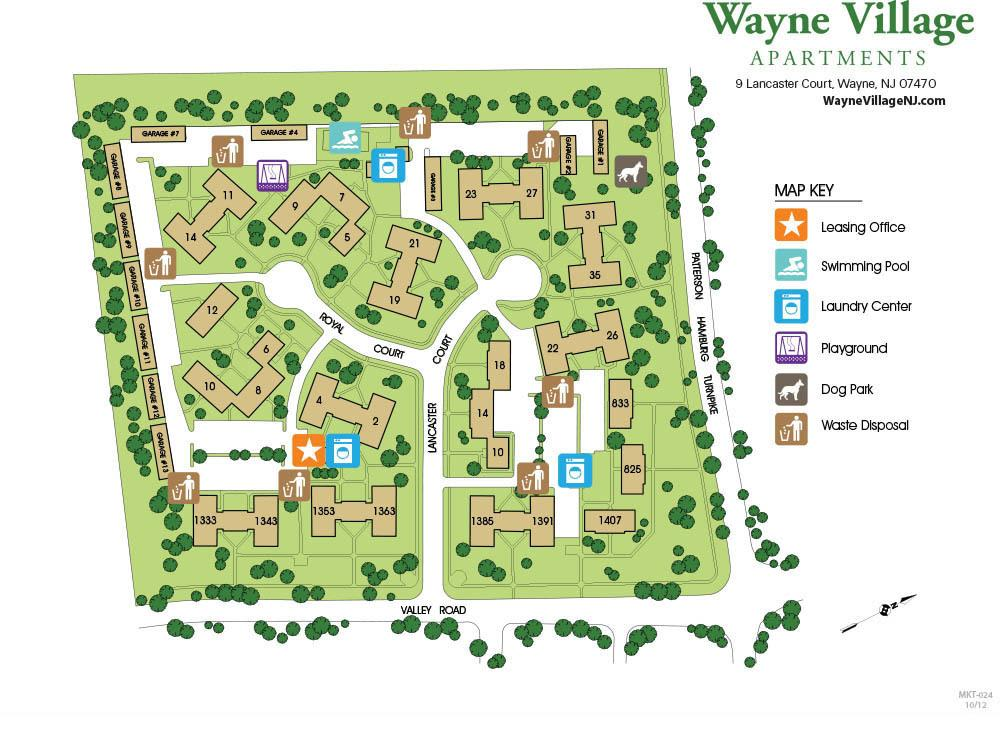 Map of Wayne Village Campus
