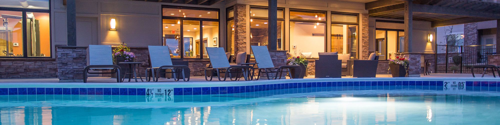 Luxury resort amenities at our apartments in Great Falls