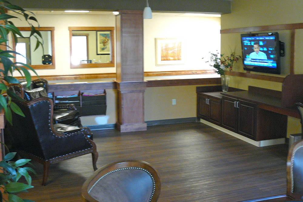 Television room in Spokane at Moran Vista