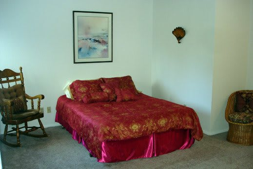 comfortable bed at Woodway Assisted Living