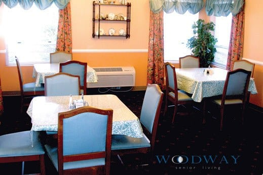WA formal dinning in Woodway Assisted Living