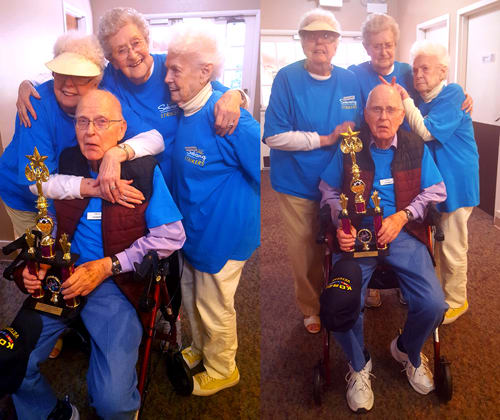 Seniors Wii bowling