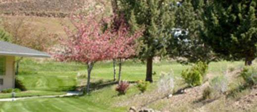 Enjoy the beautiful landscaping at Valley View Assisted Living
