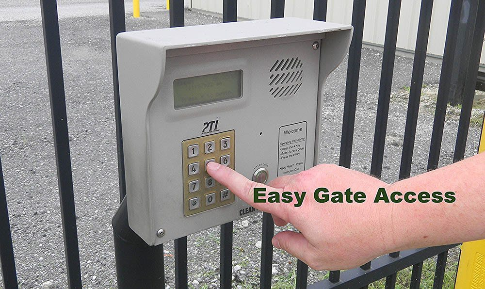 Easy gated access at Global Self Storage in Bolingbrook, IL