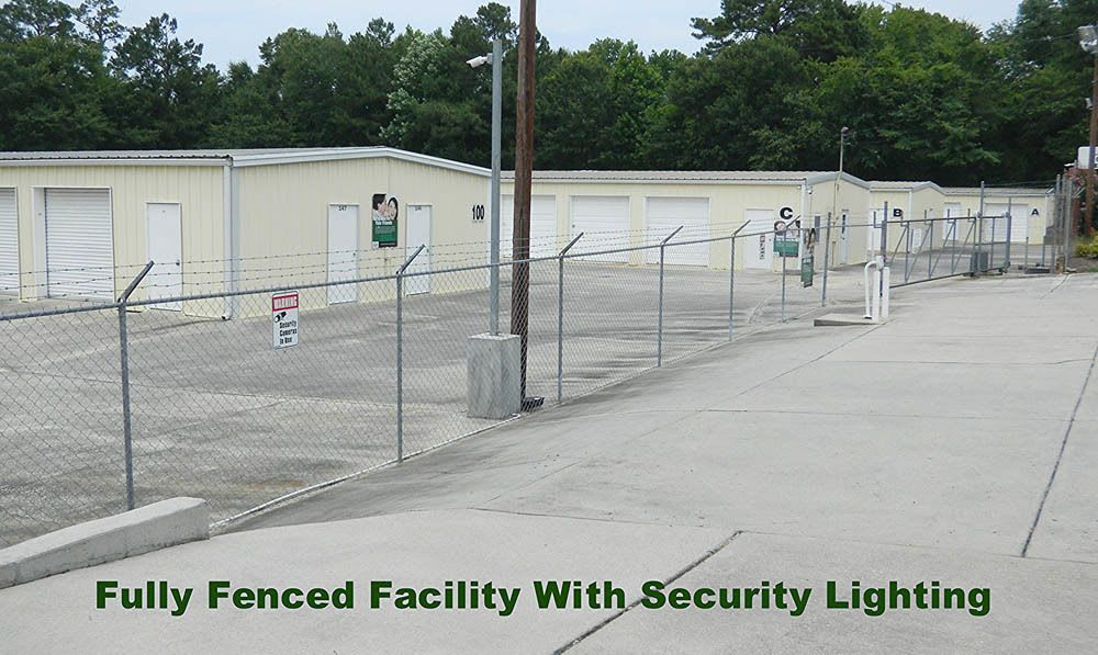 Fully fenced facility at Global Self Storage in Summerville, SC