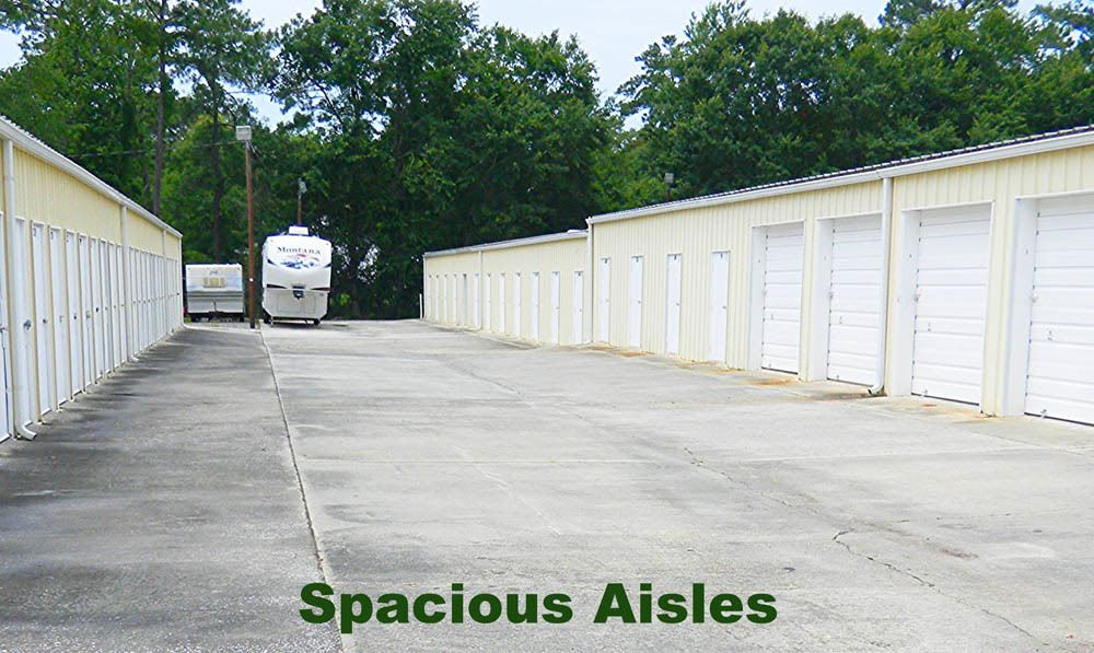 Spacious isles at Global Self Storage in Summerville, SC