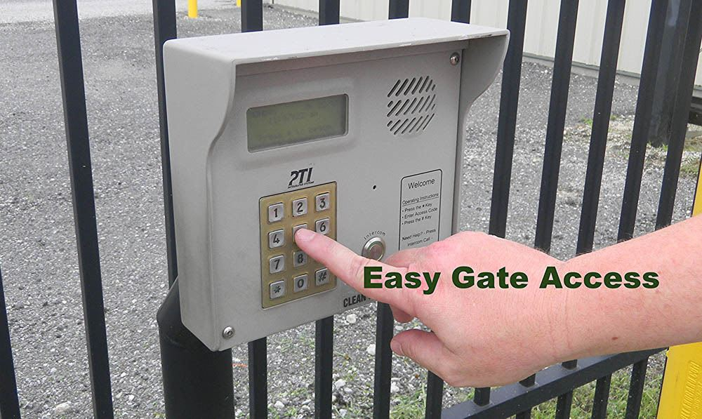 Easy gate access at Global Self Storage in Sadsburyville, PA
