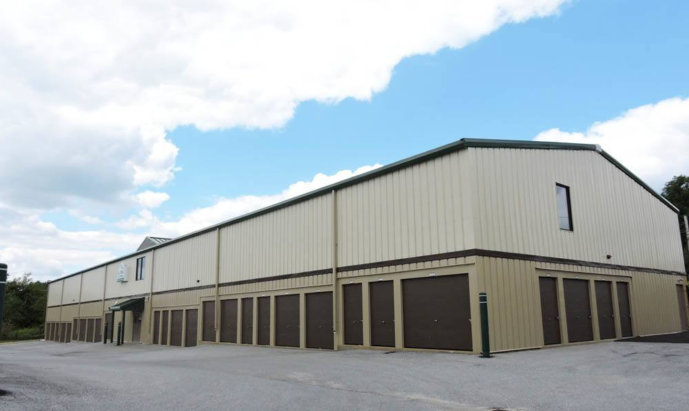 large storage buildings at Global Self Storage in Sadsburyville, PA
