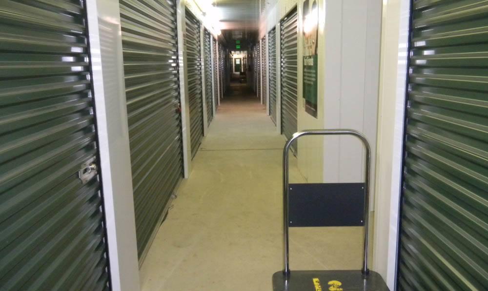 inside storage units at Global Self Storage in Sadsburyville, PA