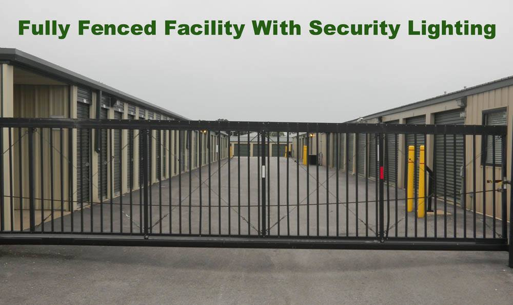 Fully fenced facility at  Global Self Storage in Merrillville, IN