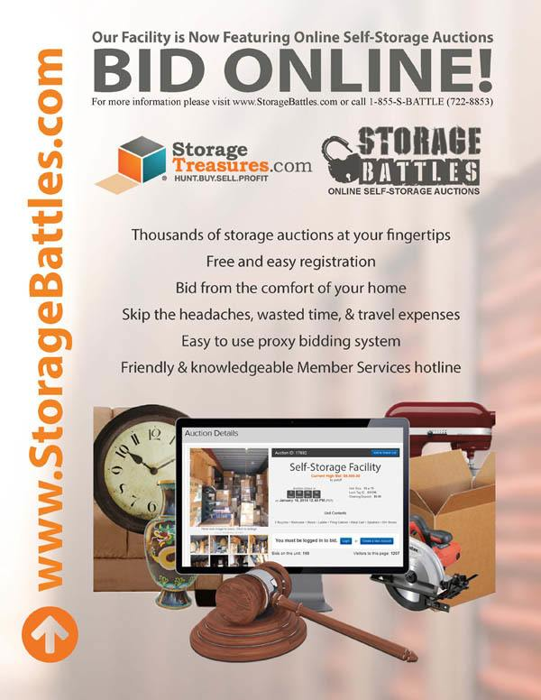 Bid Online for Global Self Storage auctions