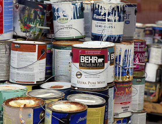 Paint cans and other flammable materials should not be stored