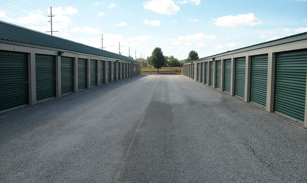 wide aisles at Global Self Storage in Merrillville, IN