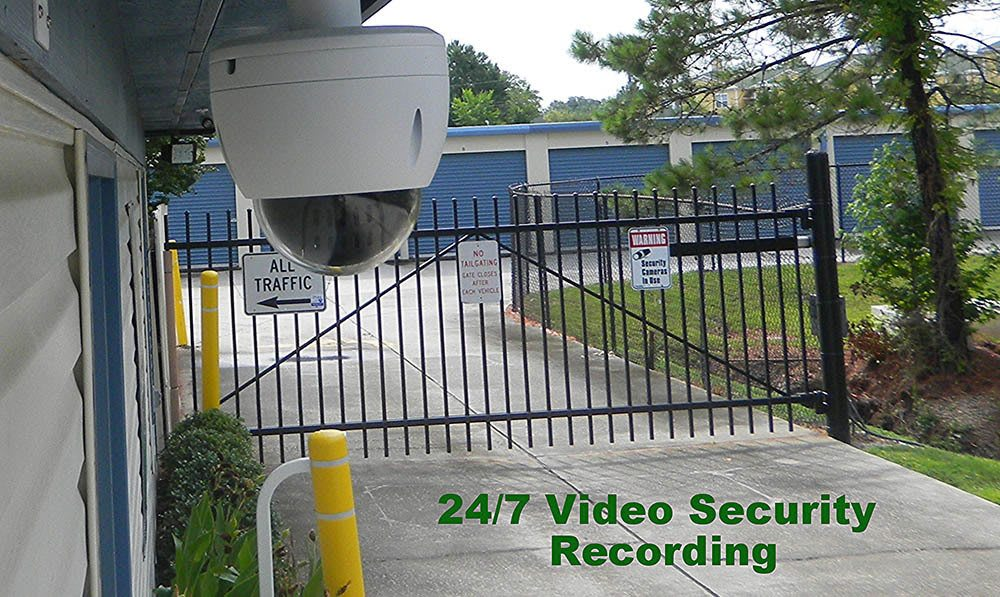 24 hour video surveillance at Global Self Storage