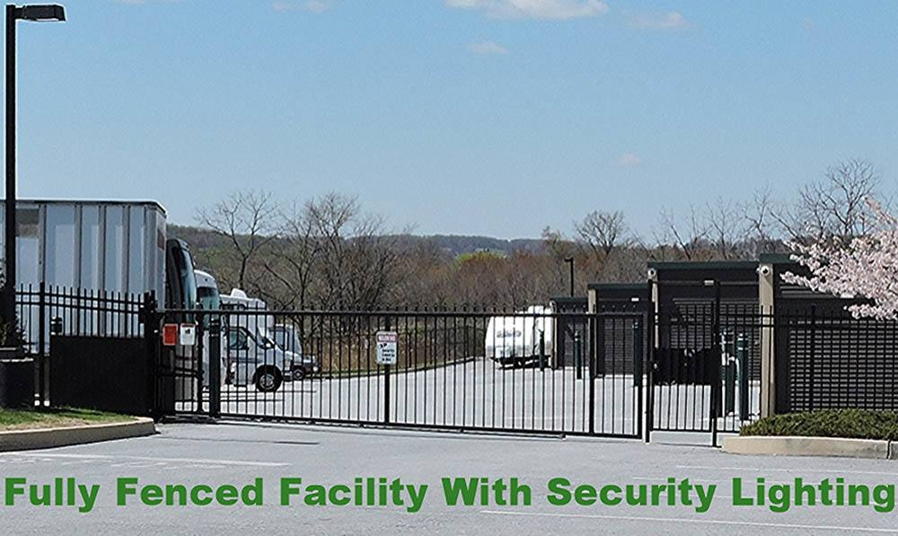 secure storage with fence at Global Self Storage in Sadsburyville, PA