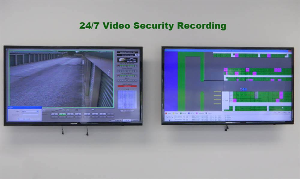 24 hour video & gate access recording at Global Self Storage in Sadsburyville, PA