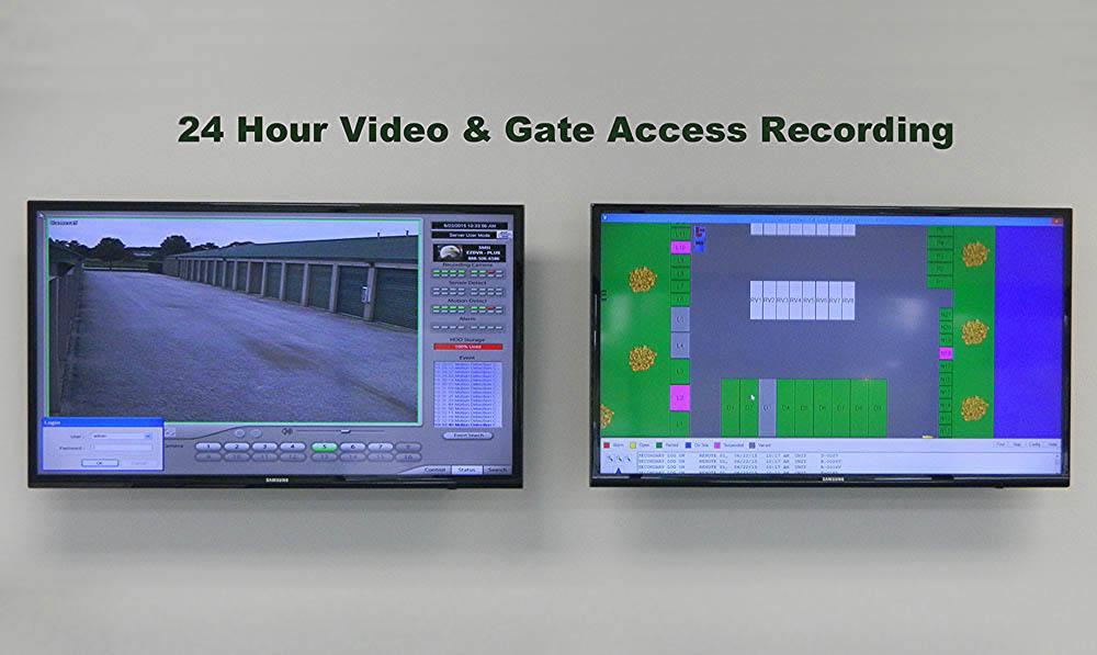 24 hour video recording at Global Self Storage in Summerville, SC
