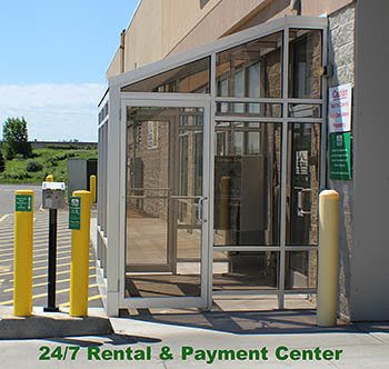 Rental & payment kiosk at Global Self Storage in Rochester, NY