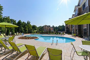 Swimming pool at our luxury apartments in Huntersville