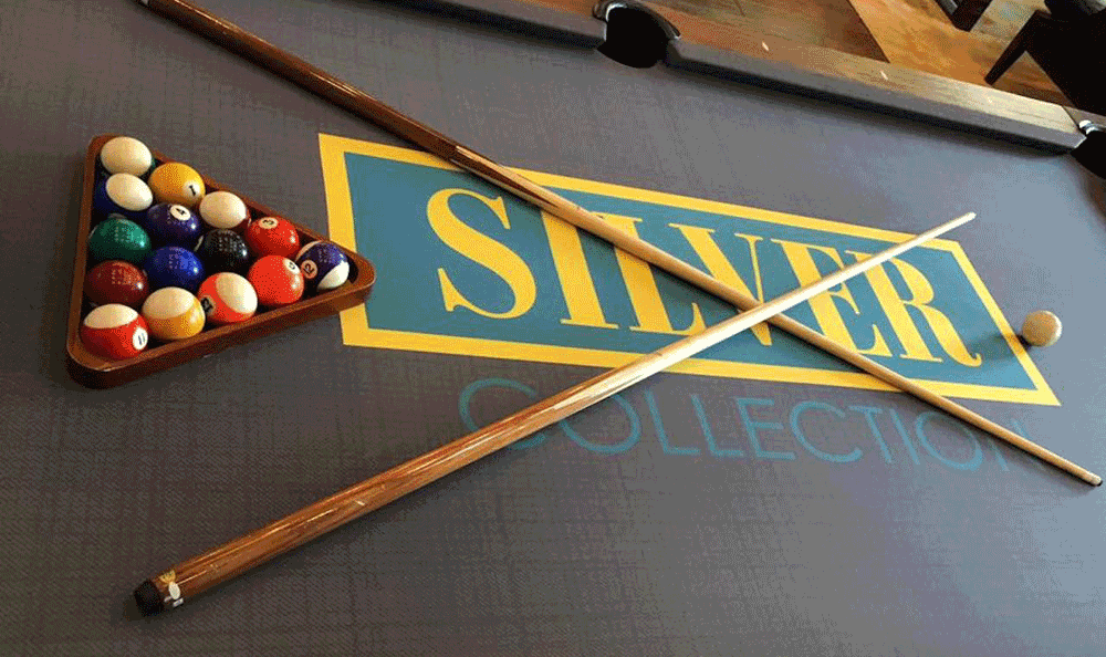 Pool table in game room at Silver Collection, at Waterford