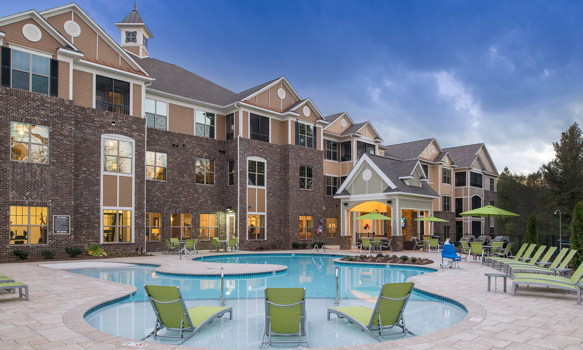 Pool At Apartments In Huntersville