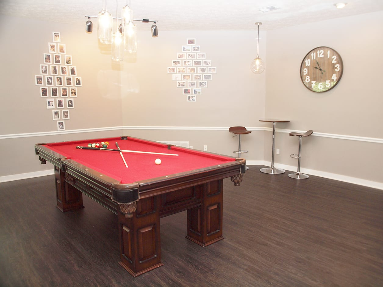 Pool table at Fox Chase Apartments