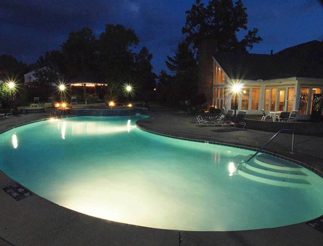 Swimming pool at Fox Chase Apartments