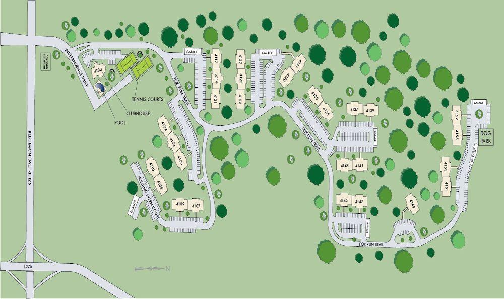 Site Map for Fox Chase Apartments