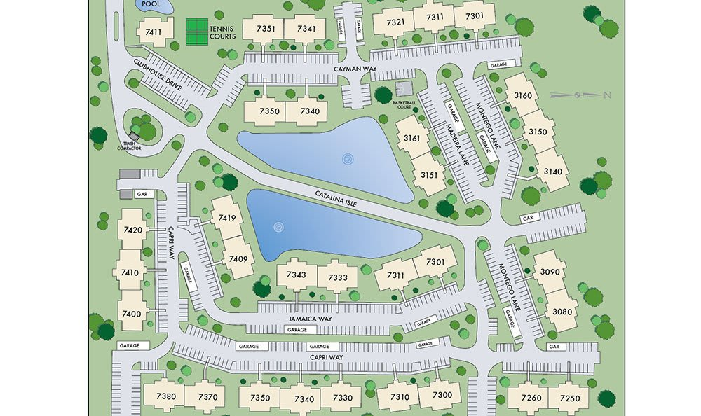 Site Map for Island Club Apartments