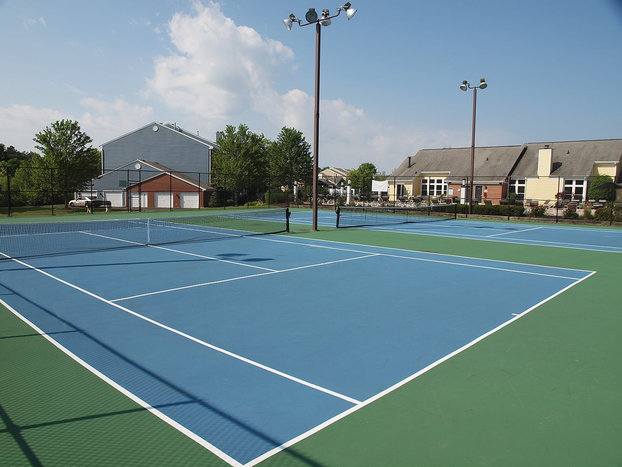Tennis court at Waterford Place in Loveland, Ohio