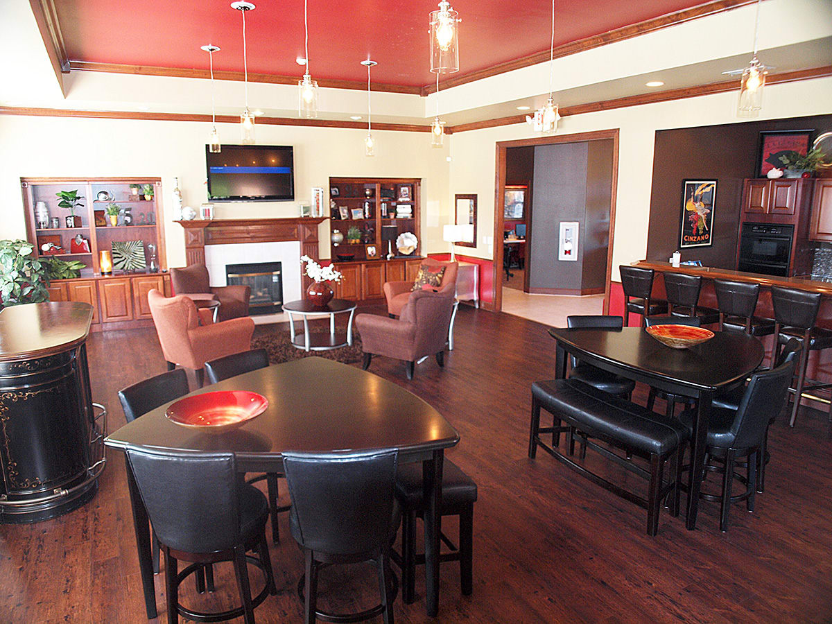 Spacious clubhouse at Sterling Lakes in Mason, Ohio