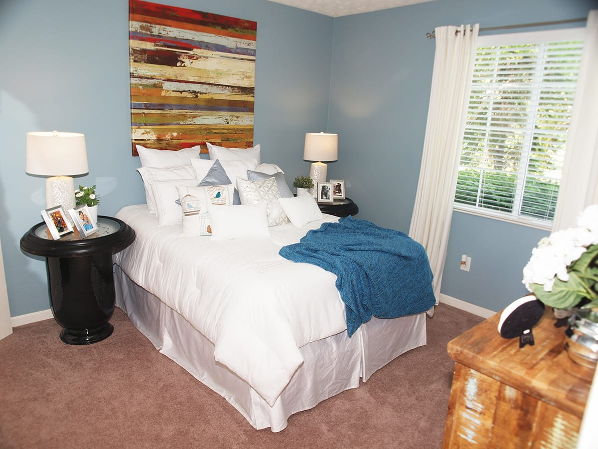 Cozy bedroom at Sterling Lakes in Mason, Ohio