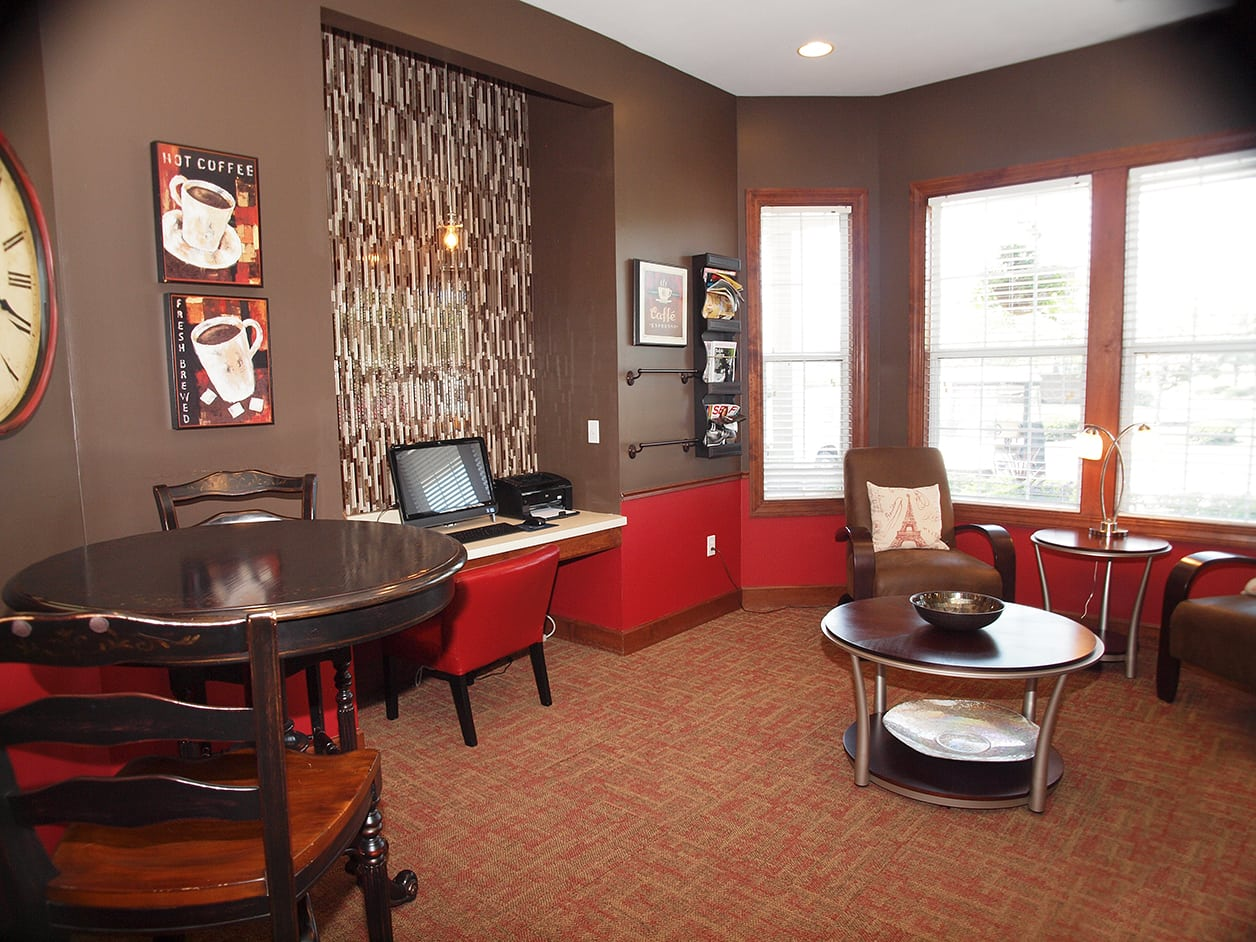 Clubhouse community space at Sterling Lakes in Mason, Ohio