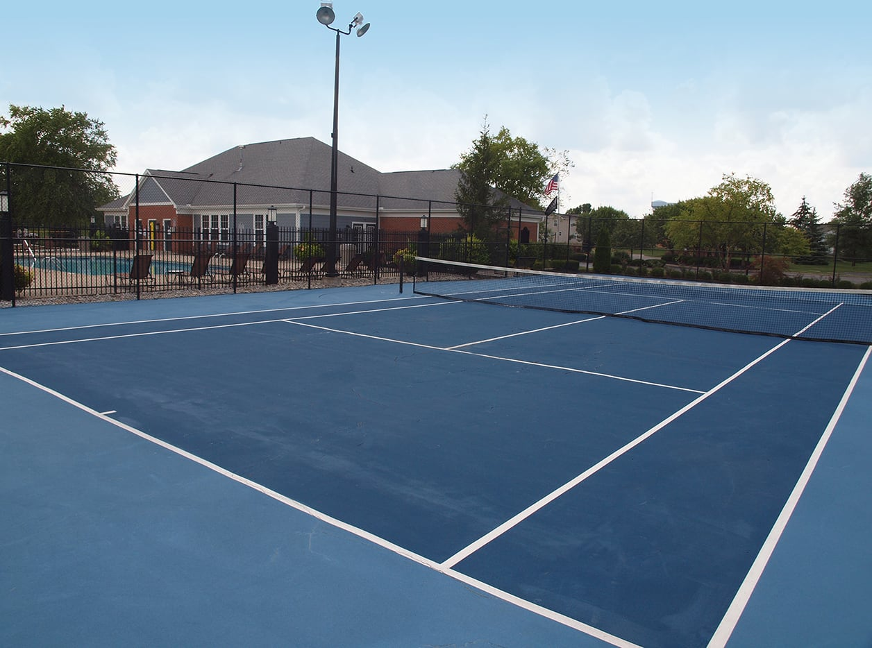 Tennis court at Sterling Lakes in Mason, Ohio