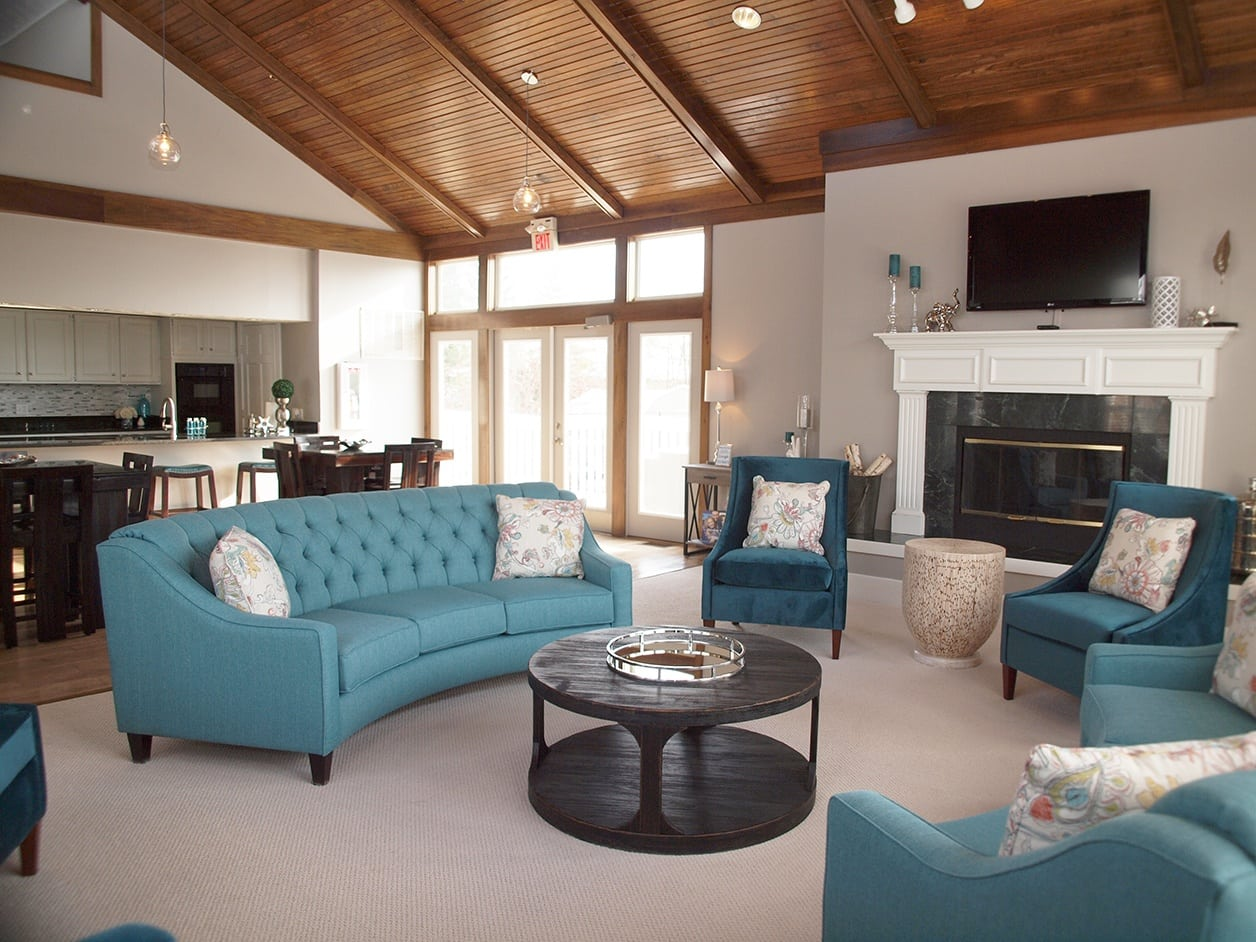 Clubhouse interior at Mallard Landing Apartments
