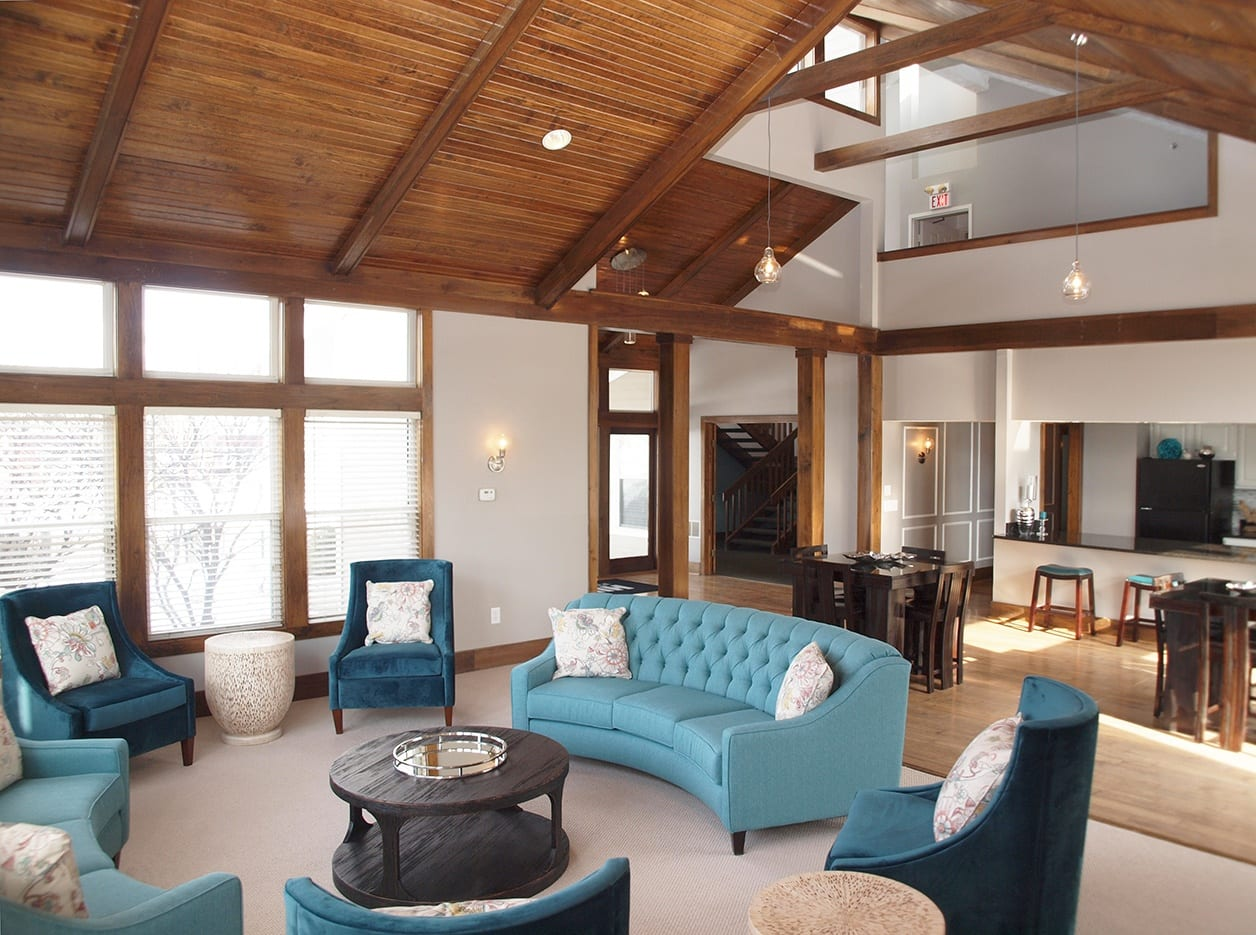 Interior of Clubhouse at Mallard Landing Apartments