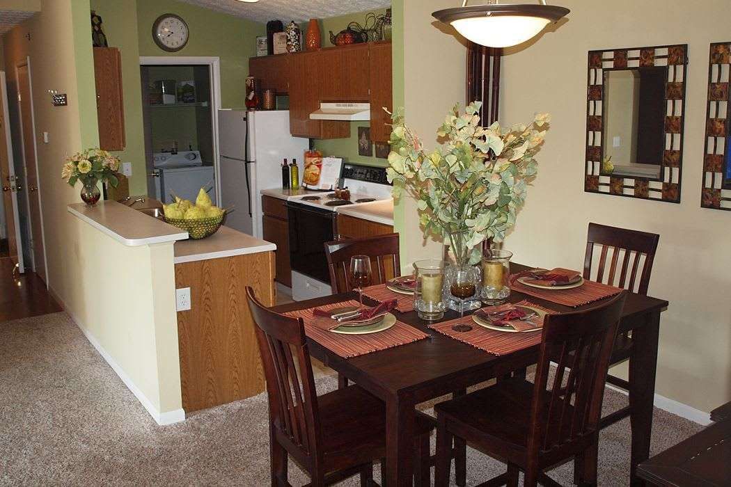 Dining kitchen area at Mallard Landing Apartments