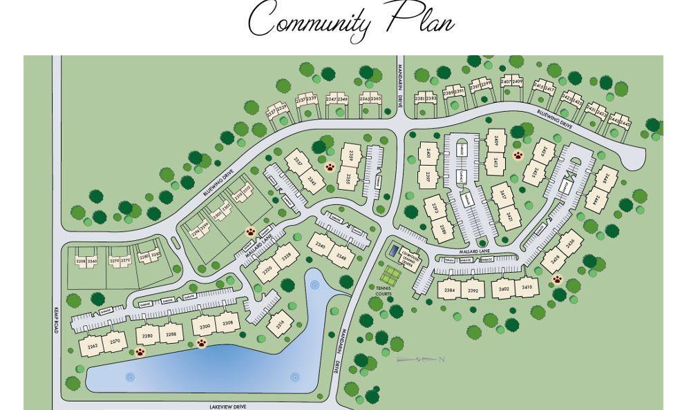 site map at Mallard Landing Apartments