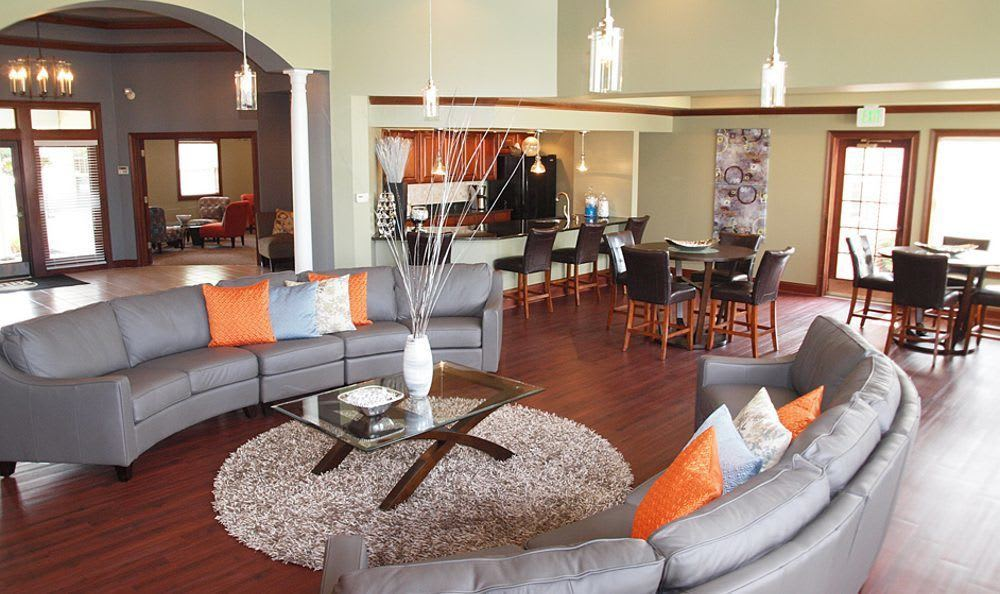 Clubhouse interior at Wellington Place Apartments
