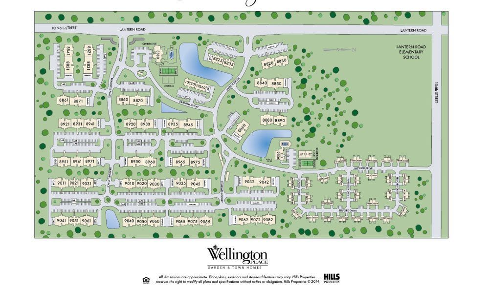Site Map for Wellington Place Apartments