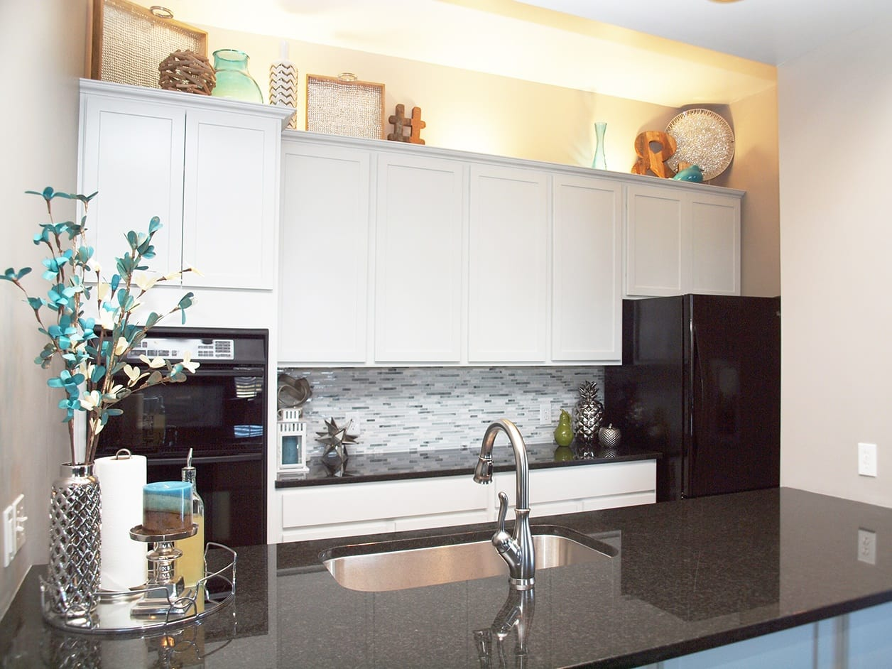 Modern kitchen at Emerald Lakes in Greenwood, Indiana