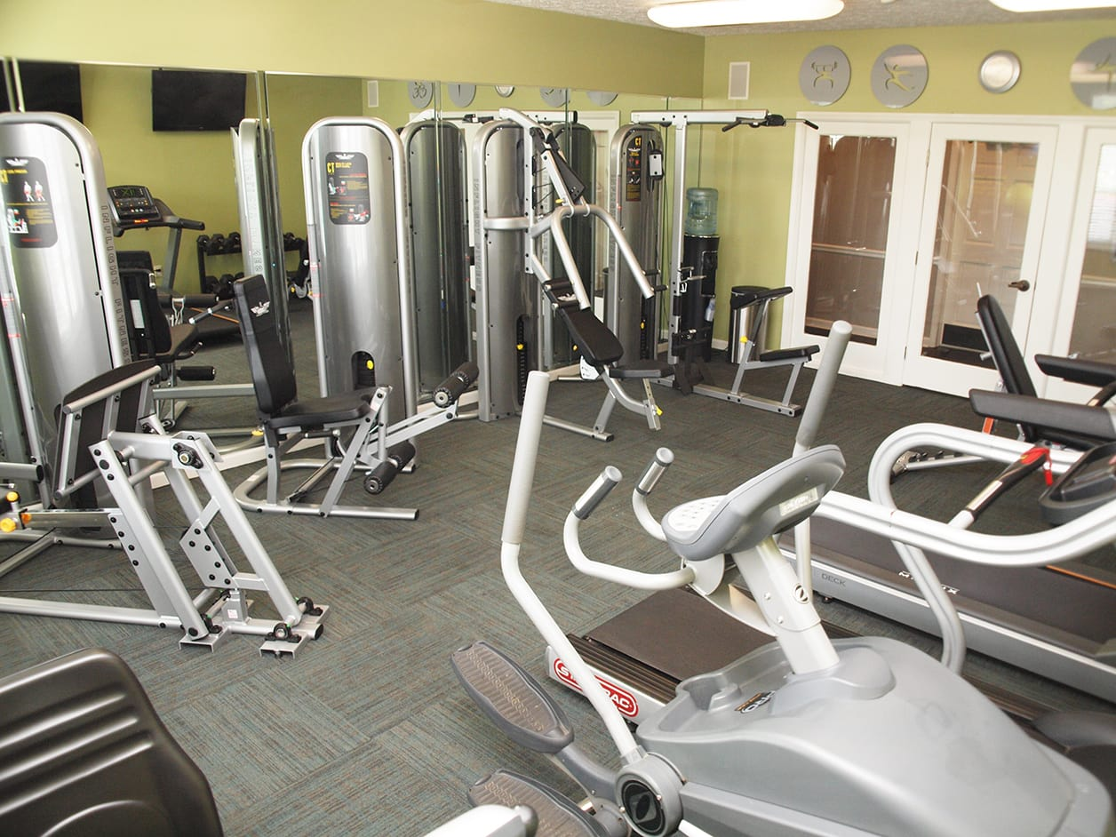 Fitness room at Emerald Lakes in Greenwood, Indiana