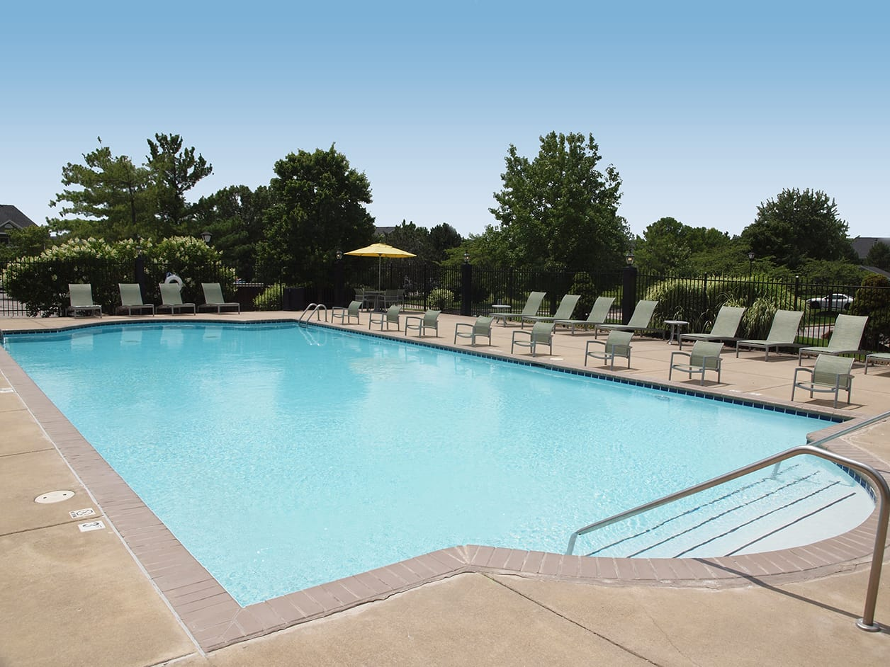 Swimming pool at Emerald Lakes in Greenwood, Indiana