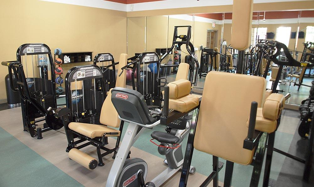 Fitness center at Summerwind Apartments