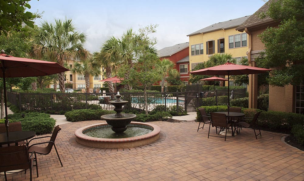 Patio pool at Summerwind Apartments