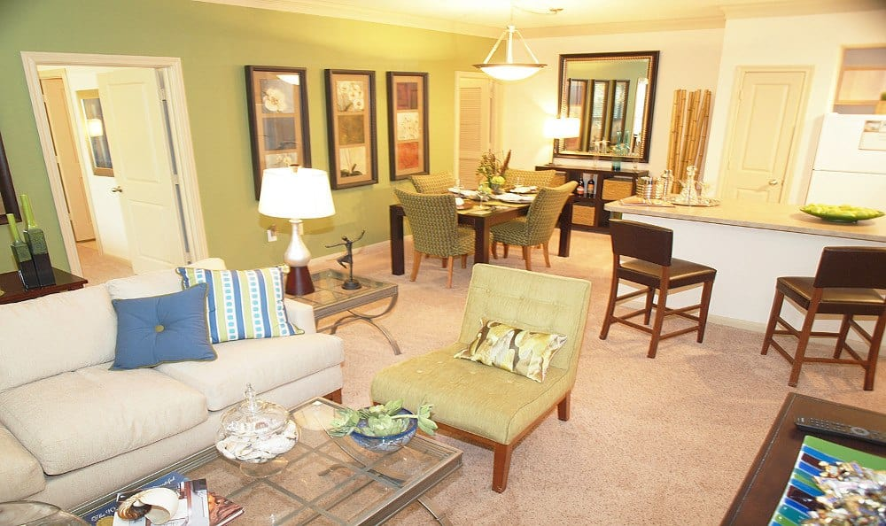 Living room at Summerwind Apartments